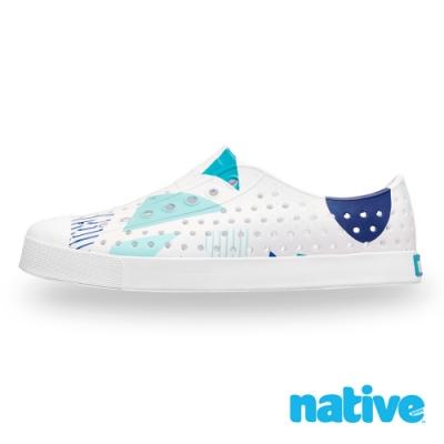 native JEFFERSON 男/女鞋-貝殼白x幾何