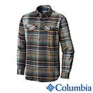 Columbia 哥倫比亞 男款-排快法蘭絨襯衫-褐綠 UAM11720CS