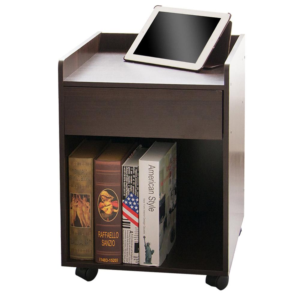 澄境 原木家居單抽活動櫃/床頭櫃/茶几桌40.5X40X59.5cm-DIY