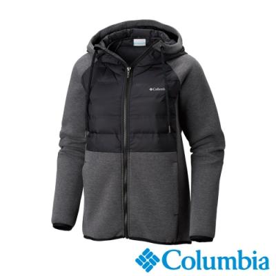 Columbia 哥倫比亞 女款- 防潑快排連帽外套-黑色UAK12150BK
