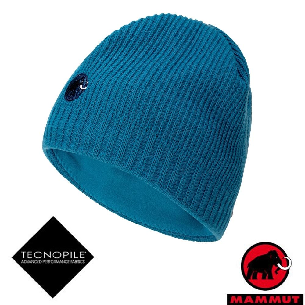 長毛象 Sublime Beanie 超輕彈性雙層針織保暖羊毛帽_藍寶石
