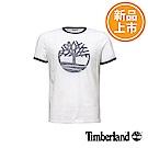 Timberland 男款白色大樹LOGO短袖T恤