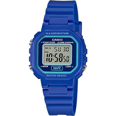 CASIO 復古風的方形電子錶款-藍(LA-20WH-2A)/30mm