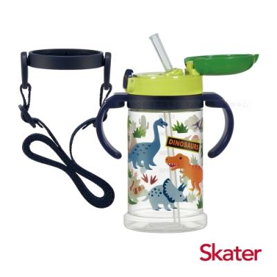 Skater寬底吸管杯(370ml)恐龍