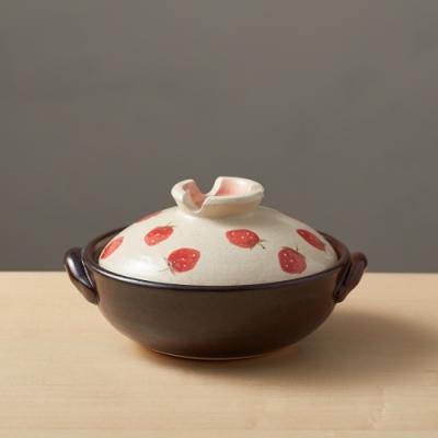 日本TAIKI太樹萬古燒 手繪土鍋6號-草莓樂園(0.8L)