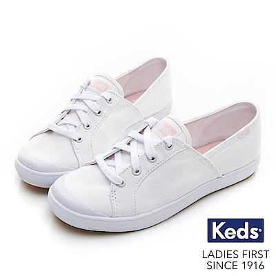 Keds SANDY 復古綁帶休閒鞋-白