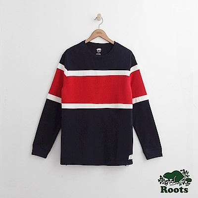 Roots 男裝-羅根圓領上衣-藍