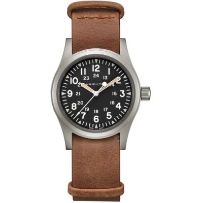 Hamilton漢米爾頓卡其野戰系列軍事手錶(H69439531)