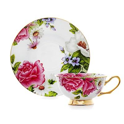 Royal Duke 骨瓷咖啡杯碟組-粉色奇緣(牡丹)(二杯二碟)