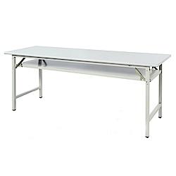 綠活居 阿爾斯環保6尺塑鋼會議桌(二色可選)-180x45x74cm免組