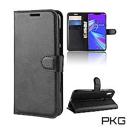 PKG 華碩 Zenfone Max PRO (M2)ZB631KL側翻皮套-經典款式-黑