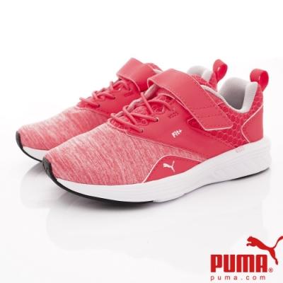 PUMA童鞋 Fit+輕量慢跑鞋款 ON90676-12粉(中小童段)
