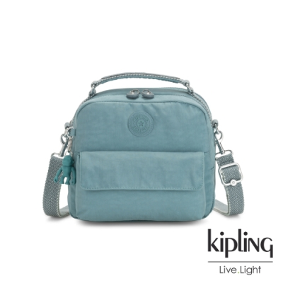 Kipling 冰霜綠兩用側背後背包-CANDY
