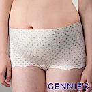 【Gennie's奇妮】涼酷無痕-美波動高腰內褲-白底灰點(GB29)