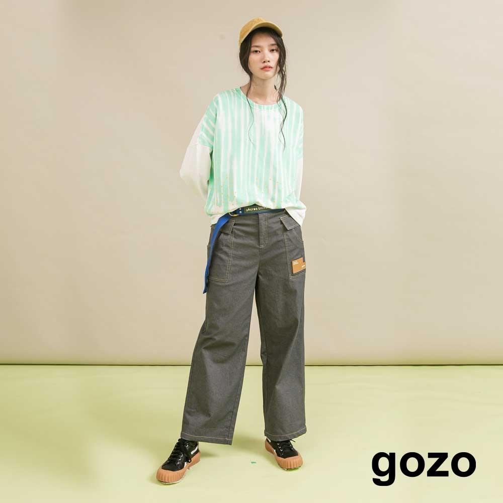gozo 造型口袋休閒工裝褲(二色)