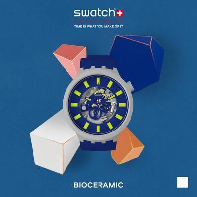 SWATCH 生物陶瓷 BIG BOLD系列手錶LIMY 夜空藍-47mm