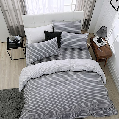 鴻宇 100%精梳棉 巴洛克 雙人特大四件式薄被套床包組