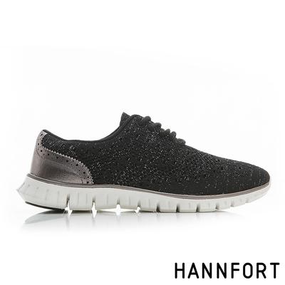 HANNFORT ZERO GRAVITY編織牛津氣墊鞋 女 星空黑