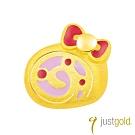 鎮金店Just Gold Hello Kitty 45周年純金系列 黃金單耳耳環-蛋糕捲