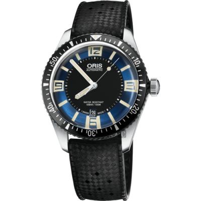 Oris豪利時 Divers Sixty-Five 1965潛水機械錶-藍x黑/40mm
