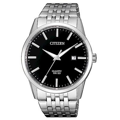 CITIZEN 一品雅爵夜光石英腕錶(BI5000-87E)-黑x39mm