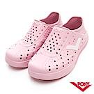 【PONY】ENJOY明星款洞洞鞋 踩後跟 涼鞋 拖鞋 中性 粉