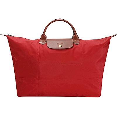Longchamp 折疊大型水餃包(短提把/紅色)