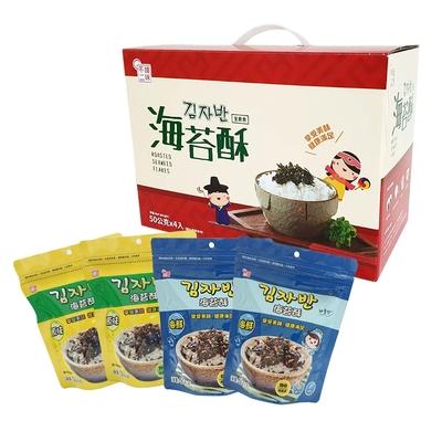【韓味不二】海樂多 海苔酥禮盒50gx4入(原味X2/海鮮X2)