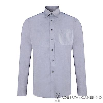 ROBERTA諾貝達 台灣製 合身版 純棉商務紳士長袖襯衫 灰色