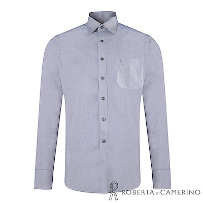 ROBERTA諾貝達 合身版 純棉商務紳士長袖襯衫RDC70-95灰色