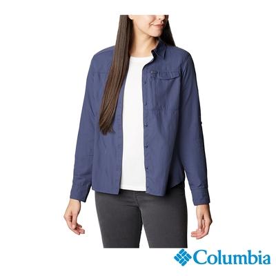 Columbia 哥倫比亞 女款- Omni-Shade防曬50快排長袖襯衫- 深藍 UAR26570NY