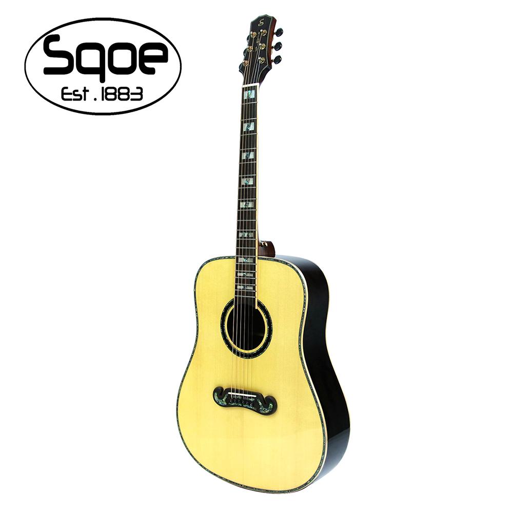 SQOE A780 N 面單雲杉民謠木吉他
