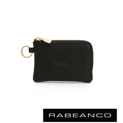 RABEANCO 經典牛皮萬用鑰匙零錢包 黑