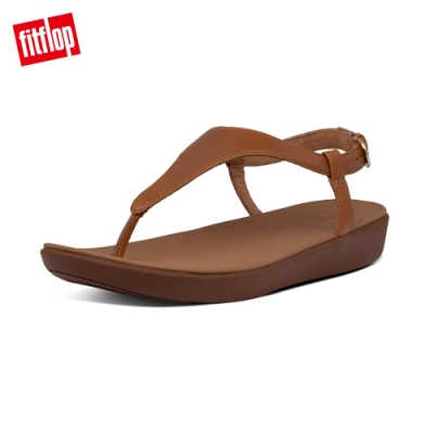 【FitFlop】LAINEY LEATHER BACK-STRAP SANDALS後帶涼鞋-女(淺褐色)