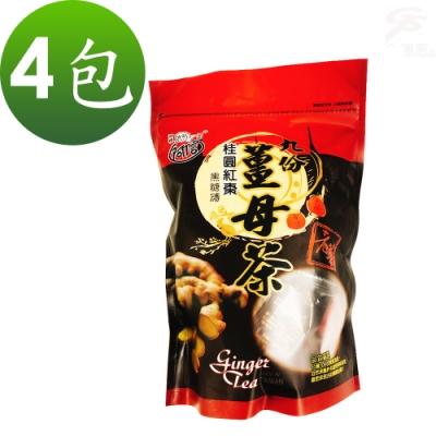 金德恩 台灣製造黑糖桂圓紅棗薑母茶磚(400g)x4包