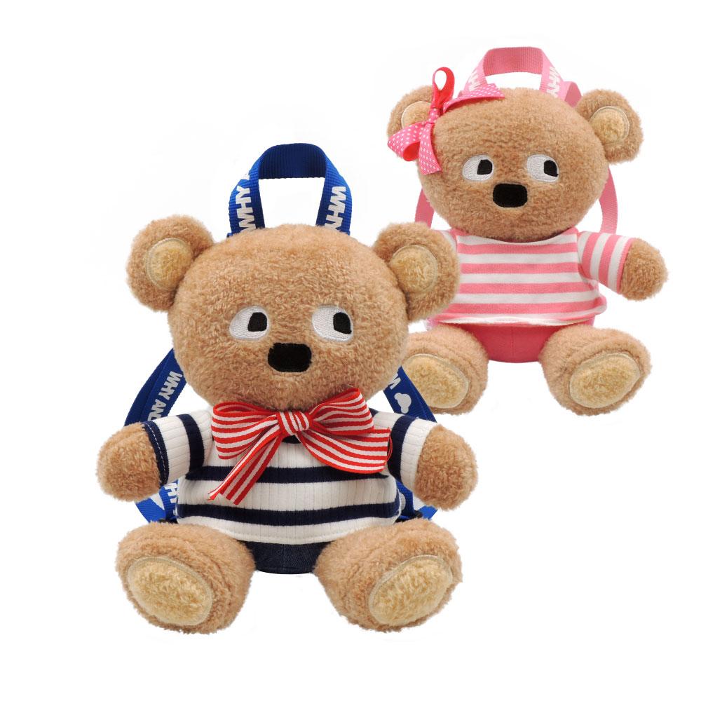 WHY AND 1/2 普普熊玩偶後背包 多色可選
