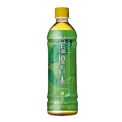台鹽 優青素綠茶 (585mlx24瓶)