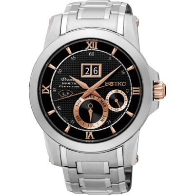 SEIKO 精工Premier 人動電能萬年曆腕錶(SNP136J1)