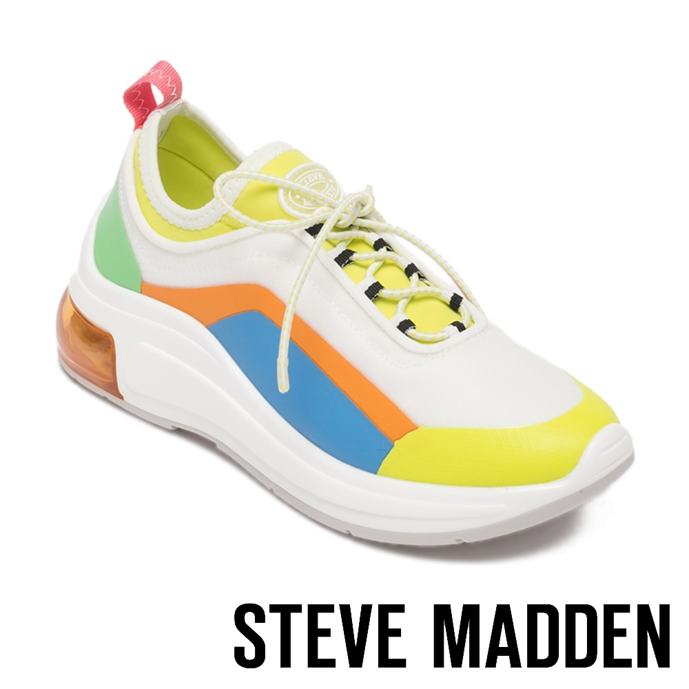 STEVE MADDEN-PAVEL 運動風 綁帶氣墊休閒鞋-彩色