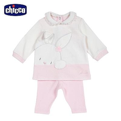 chicco-糖果兔系列-荷葉領造形套裝-粉(6-18個月)
