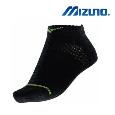 Mizuno美津濃 女運動厚底踝襪5入 黑X綠 32TX8B4493