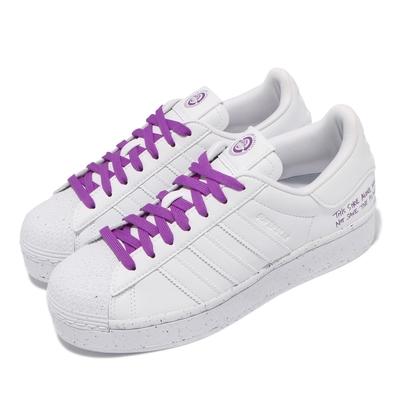 adidas 休閒鞋 Superstar Bold 運動 女鞋 海外限定 愛迪達 厚底 舒適 簡約 穿搭 白 紫 FY0129
