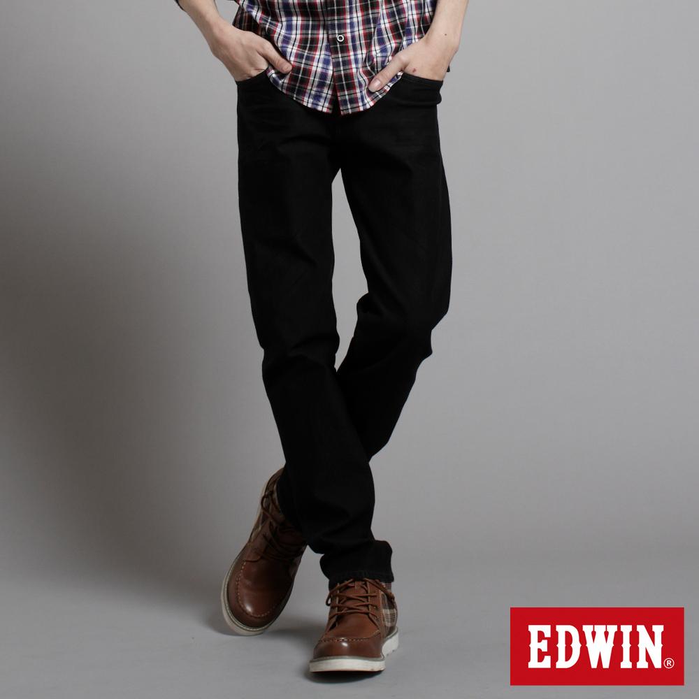 【EDWIN】503ZERO雷射中直筒保溫褲-男款(黑色)