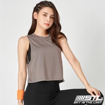 STL Yoga Fresh Crepe Perfect Tank 韓國 戶外運動機能上衣 快速排汗 無袖背心 比基尼外罩/登山/重訓/瑜珈/路跑 拿鐵