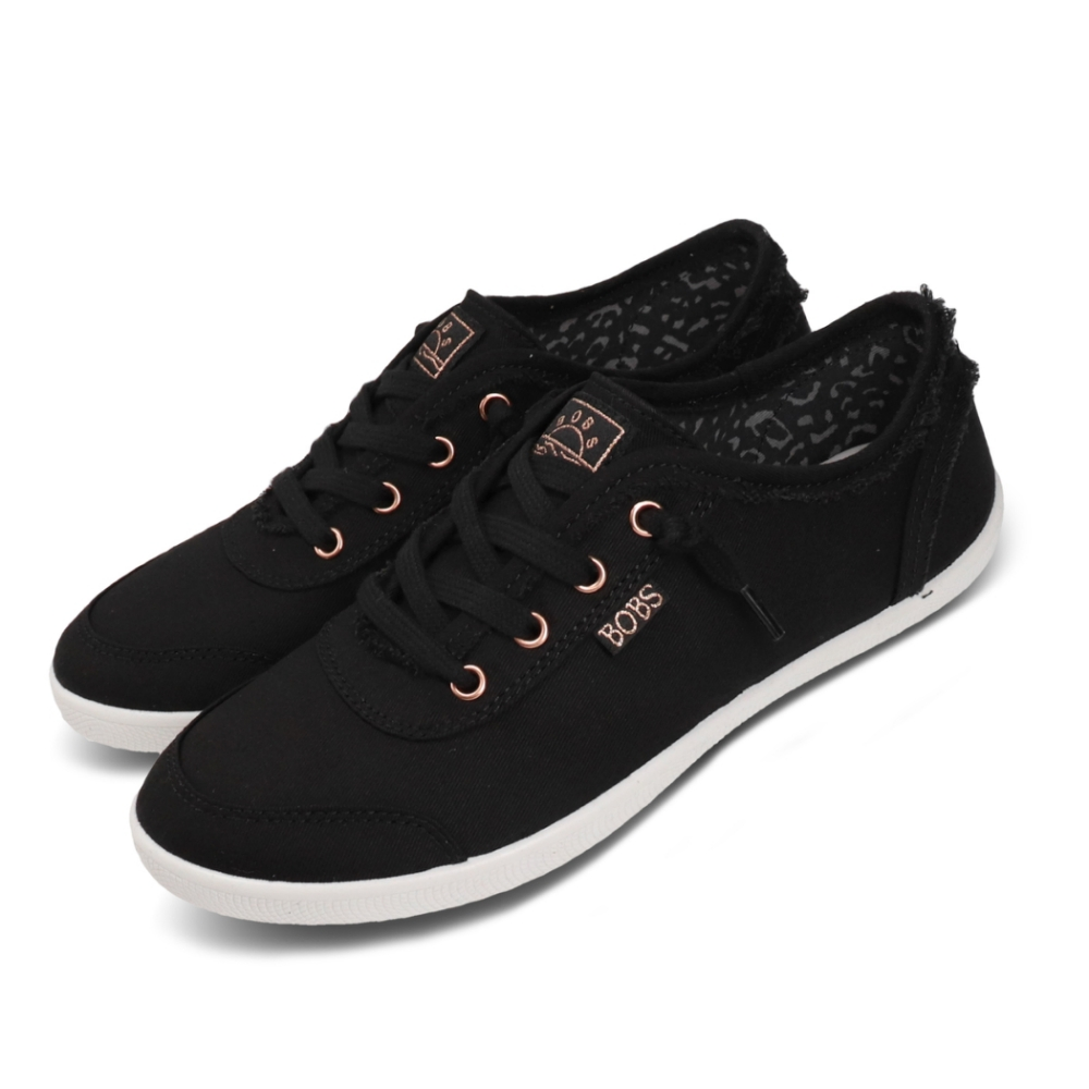 Skechers 休閒鞋 Bobs B Cute 復古 女鞋 簡約 避震 緩衝 穿搭 外出 黑 白 33492BLK