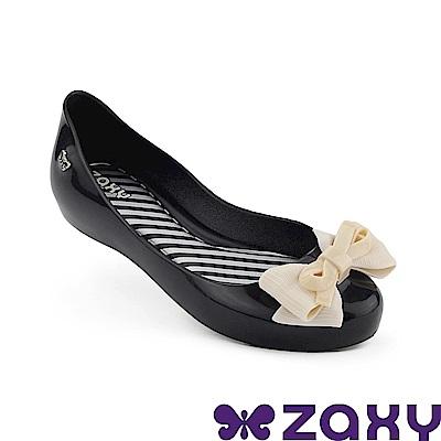 Zaxy 巴西 童 蝴蝶飛舞休閒鞋 黑/白