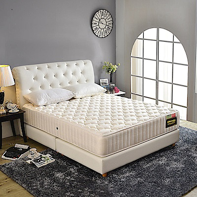 A家-女性專用-飯店用舒柔涼感乳膠抗菌-護邊蜂巢獨立筒床墊-雙人加大6尺-護腰床