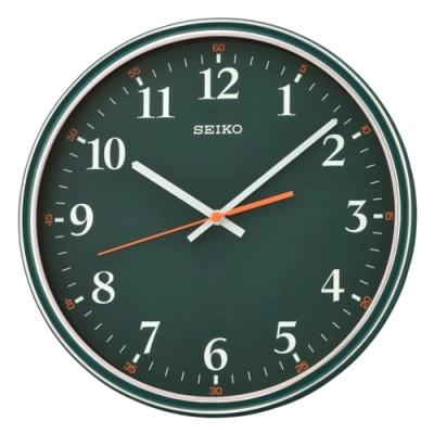 SEIKO 日本精工 滑動式秒針 時鐘(QXA751M)綠/31.2cm