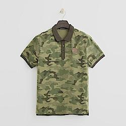 Hang Ten - 男裝 - 經典迷彩POLO衫-綠色
