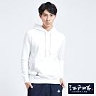 EDO KATSU江戶勝 多圖趣味繡花連帽長袖T恤-男-米白